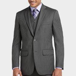 Joseph & Feiss  - Gray Multistripe Vested Classic Fit Suit