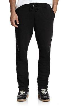 Diesel - Cotton Zip Sweatpants