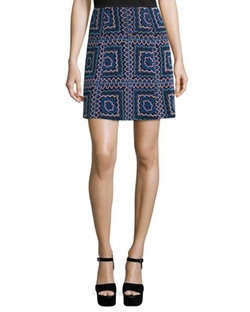 Nanette Lepore - Patchwork A-Line Mini Skirt