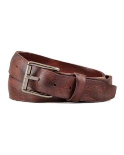 Will Leathergoods  - Distressed Leather Work Belt, Brown