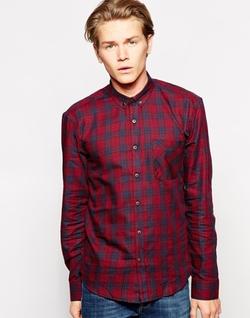 Dansk  - Check and Bias Cut Pocket Shirt