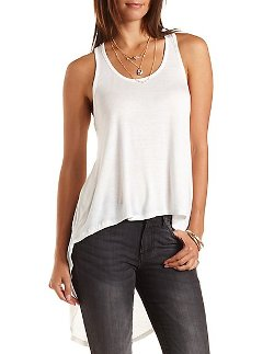 Charlotte Russe - Twisted Racerback High-Low Tank Top