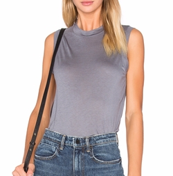 T By Alexander Wang - High Neck Flared Tank
