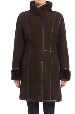 The Fur Salon  - Shearling Mink-Collar Coat