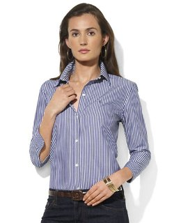 Lauren Ralph Lauren  - 3/4 Sleeve Striped Shirt