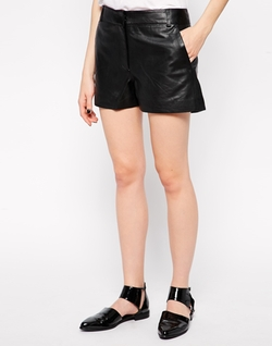 French Connection - Sunshine Leather Shorts