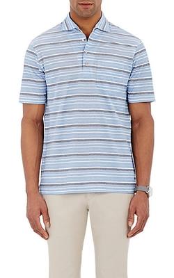 Luciano Barbera  - Striped Polo Shirt