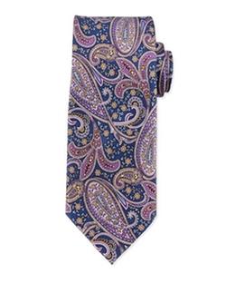 Neiman Marcus  - Paisley-Print Silk Tie