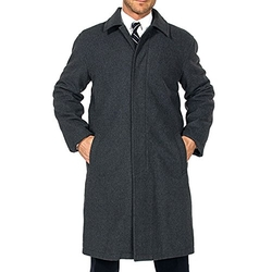 Alpine Swiss - Wool Trench Coat
