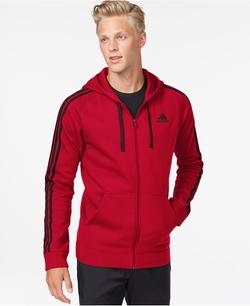 Adidas - Cotton Fleece Full-Zip Hoodie Jacket