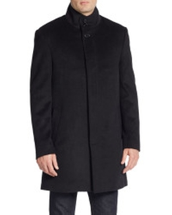 Saks Fifth Avenue - Trim-Fit Wool-Blend Coat