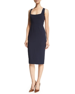 Narciso Rodriguez - Square-Neck Open Back Sheath Dress