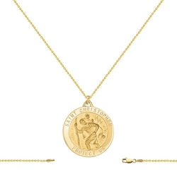 GemAffair - Saint Christopher Pendant Necklace