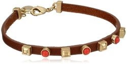 Nine West Vintage America - Brown Leather Flex Bracelet