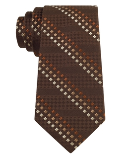 Tallia Orange - Multi-Print Silk Tie