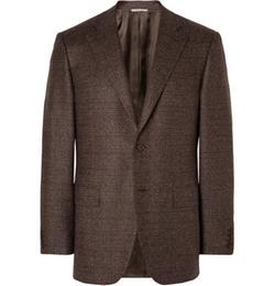 Canali - Basketweave Wool Mélange Blazer