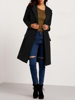 Romwe - Pockets Loose Coat