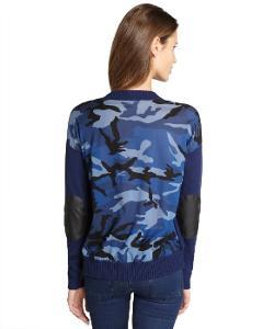 Jamison  - Navy Camo Crewneck Sweater