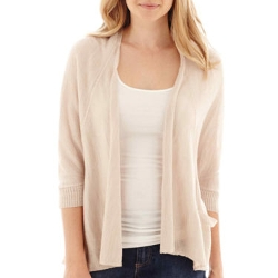 A.N.A - 3/4-Sleeve Open-Front Cardigan