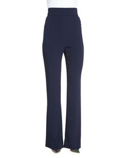 Cushnie et Ochs  - High-Waisted Crepe Flared Pants