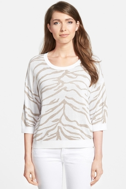 Nordstrom Collection  - Animal Jacquard Sweater