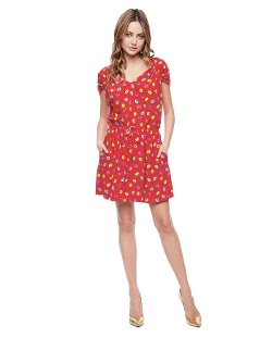 Juicy Couture - Darling Buds Washed Silk Dress