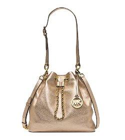 Michael Kors - Frankie Large Metallic Leather Shoulder Bag