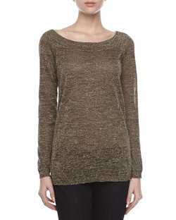 Halston Heritage - Metallic Knit Sweater