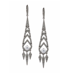 Adriana Orsini - Stella Long Spiked Crystal Drop Earrings