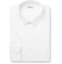 Valentino   - Slim-Fit Cotton Shirt