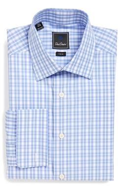 David Donahue - Trim Fit Check Dress Shirt