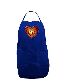 Too Loud - Heart Orange Dark Adult Apron