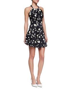 Elle Sasson   - Nelson Floral-Print Halter Dress