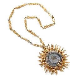 Carol Tannenbaum - Quartz Stone Pendant Necklace