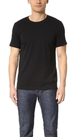 Vince  - Short Sleeve Pima Crew Neck T-Shirt