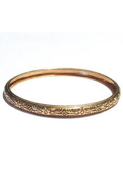 Arik Kastan - Thin Floral Bangle Bracelet
