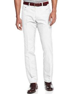 INC International Concepts  - Linen-Blend Five-Pocket Pants