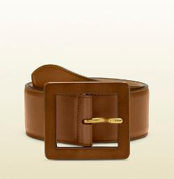 Gucci - Leather Waist Belt with Leather Buckle