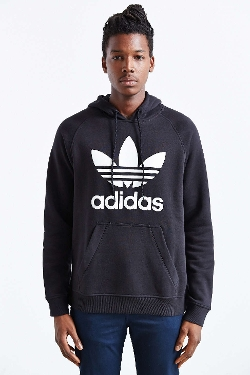 Adidas Originals  - Raglan Trefoil Hooded Sweatshirt