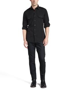 Ralph Lauren Black Label  - Casual Military Shirt, Black