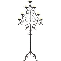 The Collection Los Angeles - 18th c. Wrought Iron Floor Candle Holder