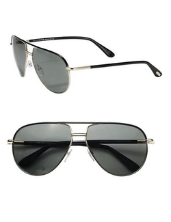 Tom Ford Eyewear  - Cole Metal Aviator Sunglasses