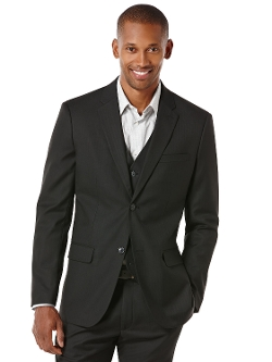 Perry Ellis International - Regular Fit Herringbone Suit Jacket