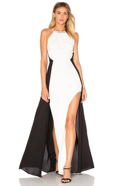 Halston Heritage - Halter Colorblock Gown