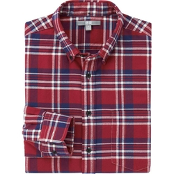 Uniqlo - Men Flannel Check Long Sleeve Shirt