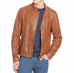 Saks Fifth Avenue Collection - Perforated Leather Biker Jacket