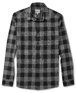 WeSC Shirt - Heather Check Long Sleeve Shirt