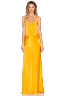 Michelle Mason - V Neck Gown