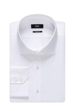 Boss - Spread Collar Cotton Dress Shirt