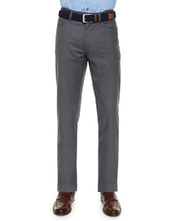 Ermenegildo Zegna - Wool Five-Pocket Trousers